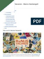 Guida Bonus Vacanze - Marco Santangeli (3+4AFM)