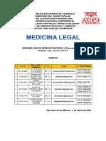 Ensayo de Medicina Legal Grupo 3 Iid5 Unerg
