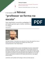 António Nóvoa professor se forma na escola 2001