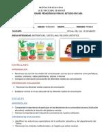 GUIA INTEGRADA DE CASTELLANO, SOCIALES, RELIGIÓN, ARTÍSTICA Y TECNOLOGÍA. - SEMANA DEL 8 AL 19 DE MARZO (1)