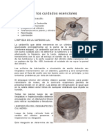 El cilindro y los cuidados esenciales