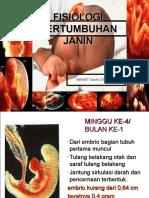 Fisiologi Pertumbuhan Janin (2)