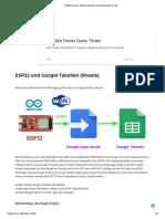 ESP32, Google Tabellen (Sheets) und Google Apps Script
