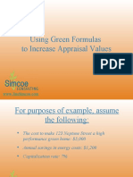 Green Real Esate Investing Formulas to Increase Appraisal Value