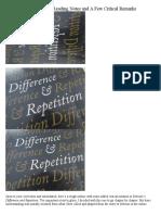 Deleuze Differance