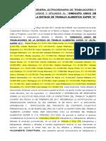 ACTA DE ASAMBLEA DE TRABAJADORES C.C