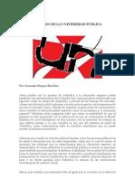 EL OCASO DE LA UNIVERSIDAD PÚBLICA