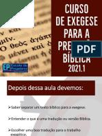 Aula 03 - Curso Exegese Para Pregação 2021.1