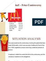 Mc Donalds Beef Fries Controversy