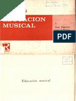 Willems. 1966. Educación Musical I. Guía Didáctica Para El Maestro