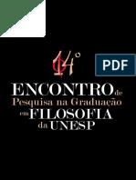 XIV Encontro de Pesquisa na Gradução em Filosofia da UNESP