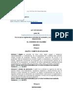AVALUOS-Ley 1673 de 2013-LEY DEL AVALUADOR