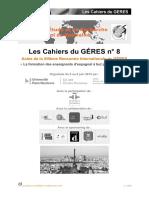 Cahiers du GERES n 8