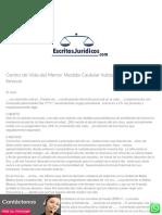 Centro de Vida del Menor. Medida Cautelar Autosatisfactiva de No Innovar – EscritosJuridicos.com