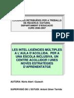 Intel·ligencies Multiples en Aula d'Acollida