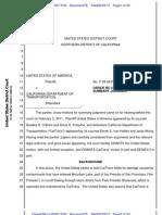 USA v. CalTrans Contract MSJ