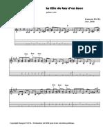 Pavil, Francois - La Fille Du Bar D'en Face (Version Corrigee Notes Et Tablature)