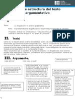 Estructura de Texto Argumentativo Convertido Aa
