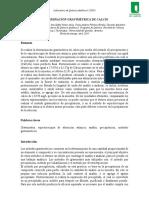 LAB N° 2-3 Determinación gravimétrica de calcio
