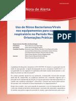 Uso de filtros Bacterianos e Virais nos equipamentos para suporte respiratório no Período Neonatal - Orientações Práticas