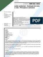 NBR ISO 14040 - 2001 - Gestão Ambiental Ciclo de Vida