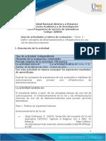 Guia de actividades y jnkRúbrica de evaluación- Tarea 2 - Definir conceptos de dimensionamiento e infraestructura en una red de telecomunicaciones