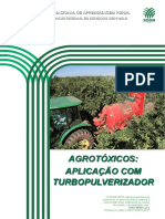 Agrotóxicos aplicação com turbopulverizador