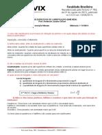 LISTA DE EXERCÍCIOS DE LUBRIFICAÇÃO  - Solution