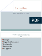 La Routine Bahasa Perancis