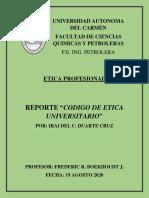 REPORTE_CODIGO DE ETICA UNIVERSITARIO