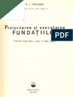 Proiectarea Si Executarea Fundatiilor - M.J. Tomlinson - Var Completa