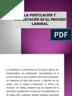 TEMA Nº 13 y 14 POSTULACION DEL PROCESO Y CONTESTACION DEMANDA