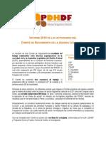Informe Comite de Seguimiento Agenda Legislativa 2010