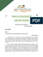 Opțional Grupa Mare - Micii Ecologiști