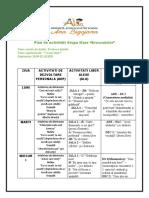 Plan de activitati Grupa Mare 28.09-02.10.2020