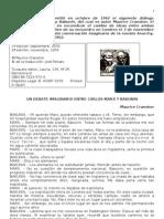 Un Debate Imaginario Entre Carlos Marx y Bakunin
