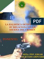 La balistica en la relacion de la escena del crimen