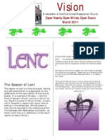 March 2011 FUPC Visions Newsletter