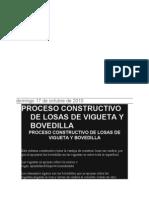proceso constructivo losa vigueta y bovedilla