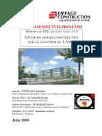 ETUDE DE MODES CONSTRUCTIFS SUR LE CHANTIER DU LAWN PFE 2008 (INSA)