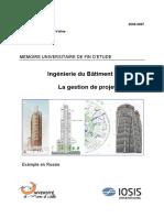 La Gestion de projet à l'export (Univ-Marne la vallée ) PFE 2007