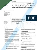 NBR 10157 - Aterros de residuos perigosos