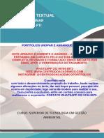 (32 99194-8972) TEMOS PRONTO Portfolio Consumo consciente - otimização do uso de recursos naturais - gestao ambiental 5 semestre