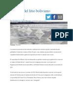 El poder del litio boliviano