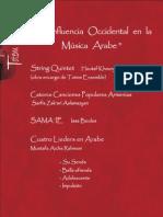 Programa La  Influencia Occidental en La Musica Arabe