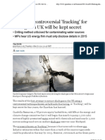 20110302-Results of Controversial Fracking for Shale Gas in UK Will Be Kept Secret