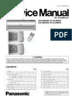 Panasonic CS-C9DKZW CU-2C18DKH CU-3C20DKH Air Conditioners Service Repair Manual FREE DOWNLOAD