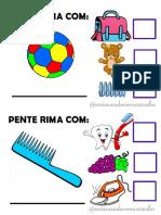 Jogo Consciencia Fonologica Rima