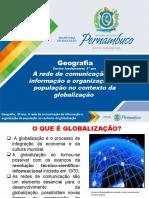 A rede de comunicação de informação e de organização da população no contexto da globalização
