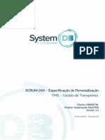 Especificação de Personalizacao - SIGATMS V 1.4